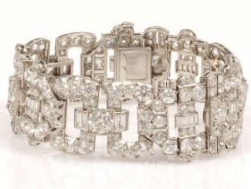 Roaring-20s-Jewelry Online Jewelry Auction: Roaring 20s Platinum Art Deco Diamond Bracelet