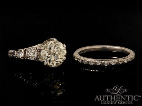Estate-Wedding-Rings San Diego Sale: Estate Diamond Engagement Ring & Wedding Band