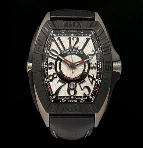 Franck-Muller-Watch Franck Muller Conquistador Grand Prix Watch Sale - Titanium & Crocodile Skin